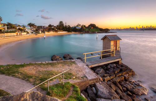 A view of Camp Cove at Watson Bay, Sydney, Australia