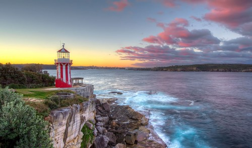Sunset at Hornby Lighthouse at South Head, Sydney
