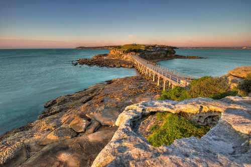 The walkway to Bare Island, La Perouse, NSW, Australia