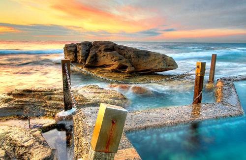 Sunrise over Mahon pool, Maroubra, NSW, Australia