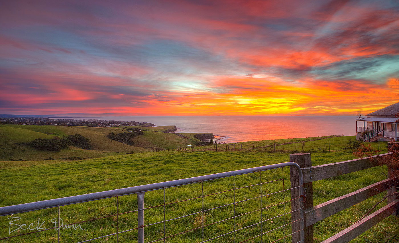 Sunrise over Kiama, NSW, Australia