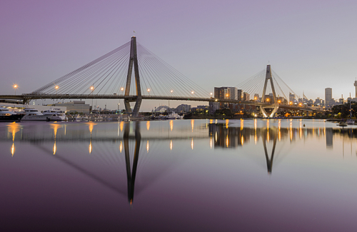 Glebe view of Anzac Bridge, Sydney