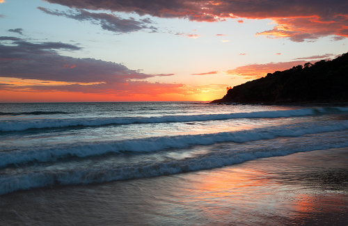 Sunrise at Merry Beach, NSW Australia