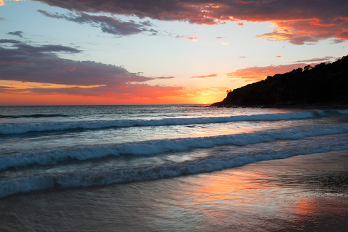 Sunrise at Merry Beach, NSW Australia