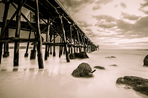 The pier at Catherine Hill Bay, NSW, Australia