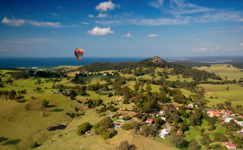 Birds Eye view of Tilba, NSW Australia